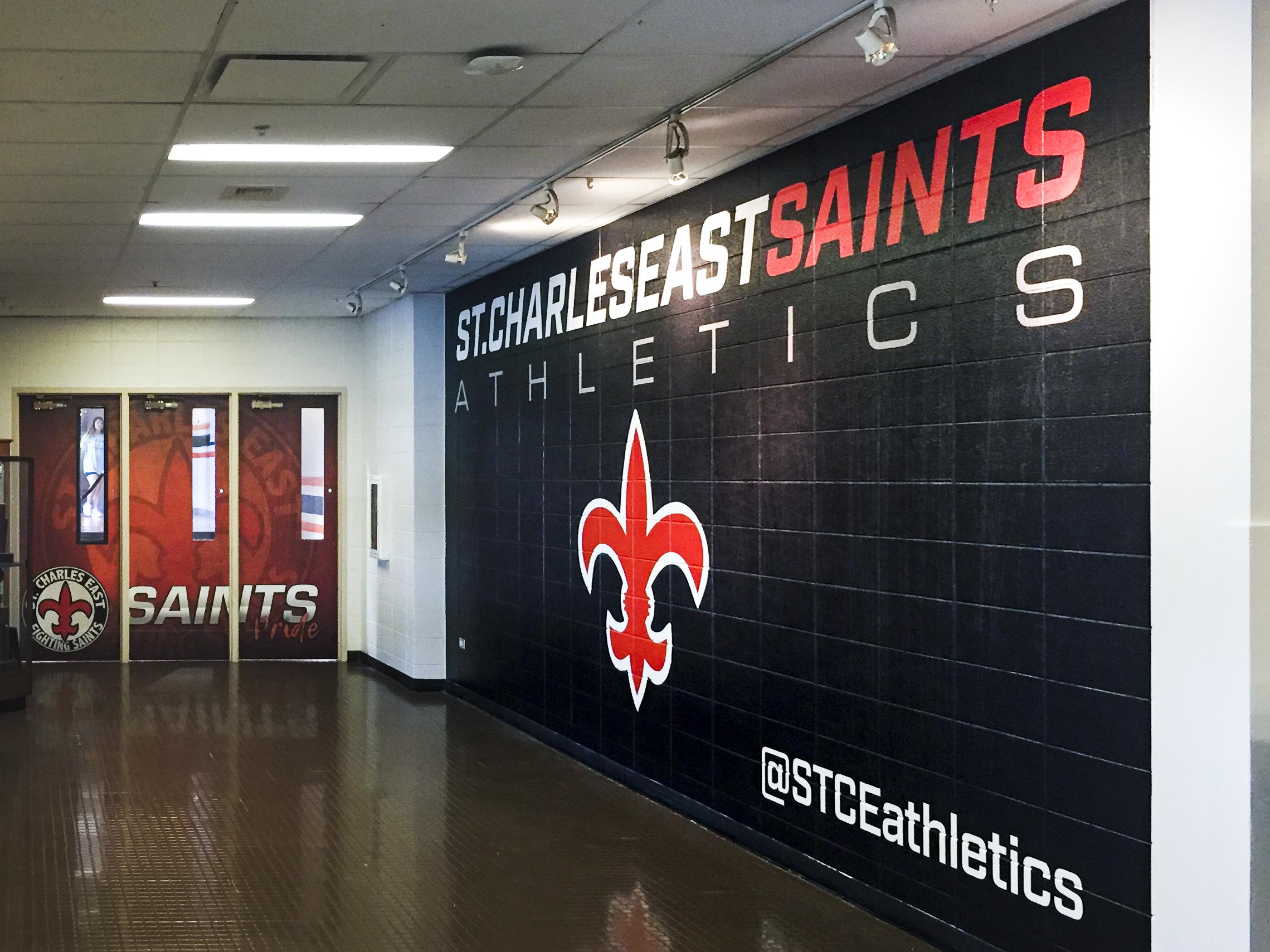 St. Charles East High School wall mural